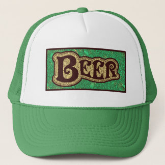 Het Logo van het bier - de Munt GreenTexture ziet Trucker Pet