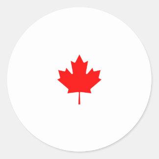 Het Logo van het Blad van de Esdoorn van Canada Ronde Sticker