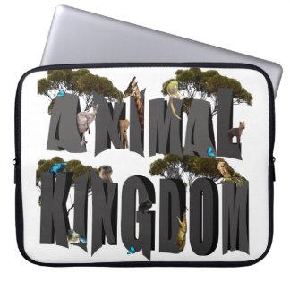 Het Logo van het Dierenrijk met Dieren, 15 duim Laptop Sleeve