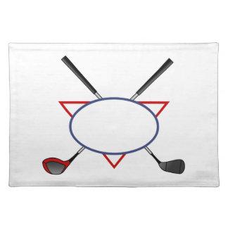 Het Logo van het golf Placemat