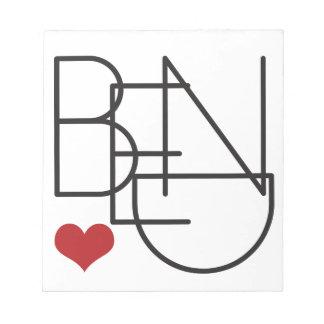 Het Logo van het Hart van Word van Oregon van de Notitieblok