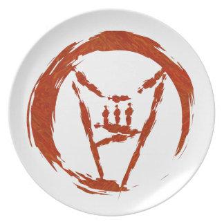 Het Logo van het Heelal van het zware Metaal Melamine+bord