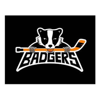 Het Logo van het Hockey van dassen Briefkaart