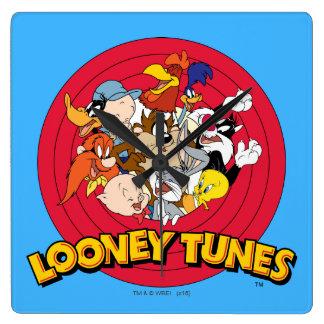 Het Logo van het Karakter LOONEY TUNES™ Vierkante Klok