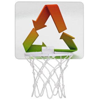 Het Logo van het recycling Mini Basketbalbord
