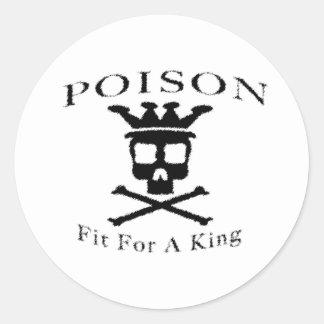 Het Logo van het vergift door: David Lee Ronde Sticker