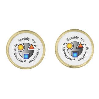 Het logo van KMIO om cufflinks goud Vergulde Manchetknopen