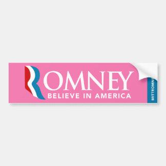 Het Logo van Mitt Romney gelooft in de Sticker van