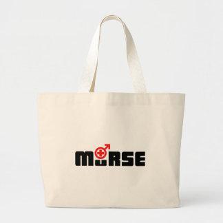 Het logo van Murse op wit Canvas Tas