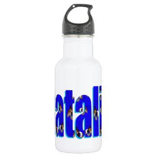 Het Logo van Natalie van Proefkonijnen wordt Waterfles