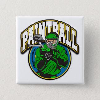 Het Logo van Paintball Vierkante Button 5,1 Cm