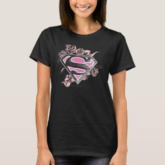 Het Logo van Supergirl met Rozen T Shirt