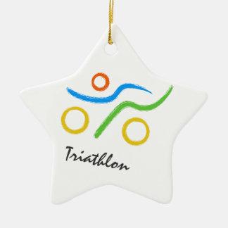 Het logo van Triathlon Keramisch Ster Ornament
