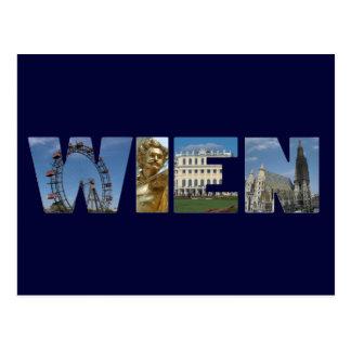 Het Logo Wenen Oostenrijk van Wien Briefkaart