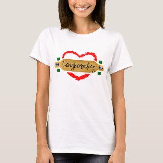 Het longboarding van de liefde t shirt