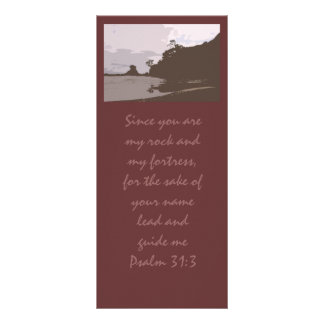 Het lood en begeleidt me - het 31:3 van de Psalm Reclamekaart