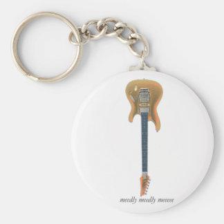 Het Lood van de gitaar Basic Ronde Button Sleutelhanger