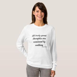 Het lopen de Gedachten van de Reis ~Great T Shirt