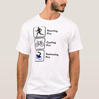 Het lopen, het Cirkelen, het Zwemmen Triathlon T Shirt