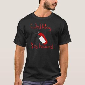 Het lopen het Gevaar van de Brand T Shirt