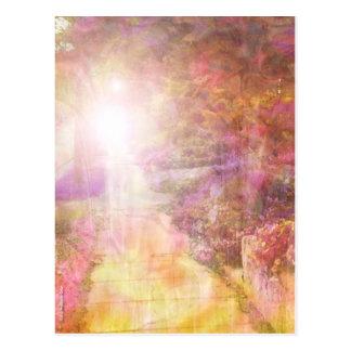 Het lopen in het Lichte Kleurrijke Briefkaart