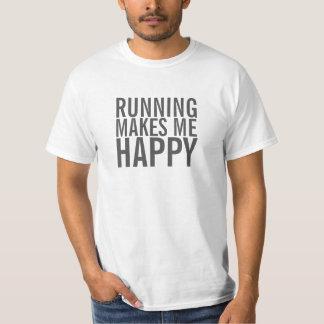 Het lopen maakt me gelukkig overhemd t shirt