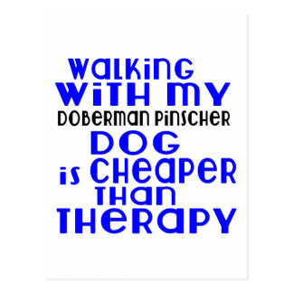Het lopen met Mijn Design van de Hond van Doberman Briefkaart