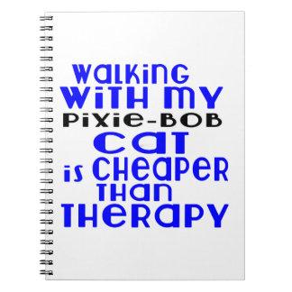 Het lopen met Mijn elf-Loodje Design van de Kat Ringband Notitie Boeken