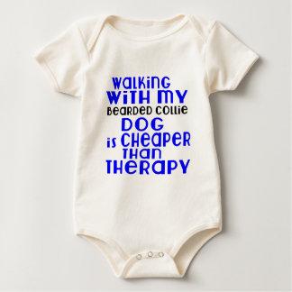 Het lopen met Mijn Gebaard Design van de Hond van Baby Shirt