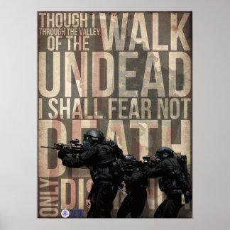 Het lopen met Zombieën Poster