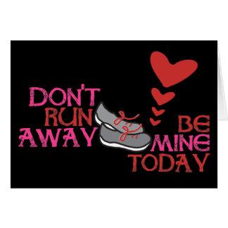 Het lopen Valentijn - de Valentijnsdag van de Kaart