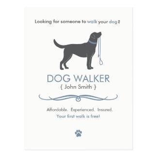 Het Lopen van de Leurder van de hond Bedrijfs Briefkaart