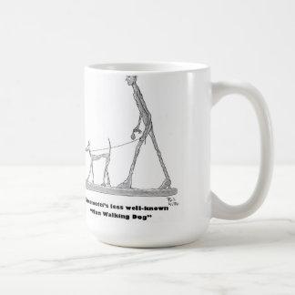 Het Lopen van het man Hond Koffiemok