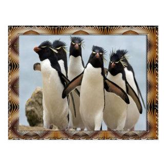 Het Lopen van Penquin Briefkaart