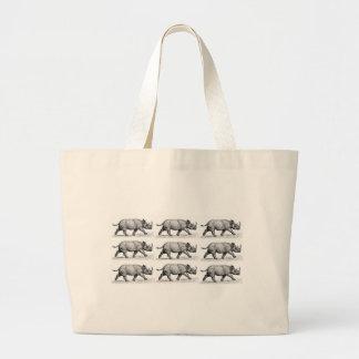 Het lopende art. van Rinocerossen Grote Draagtas