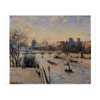 Het Louvre door Camille Pissarro Briefkaart