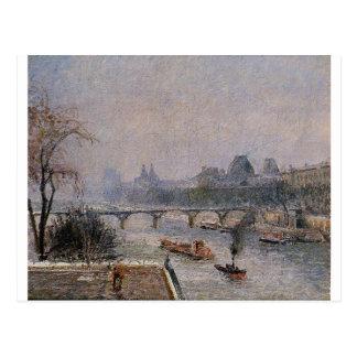Het Louvre, Ochtend, het Effect Camille Pissarro Briefkaart