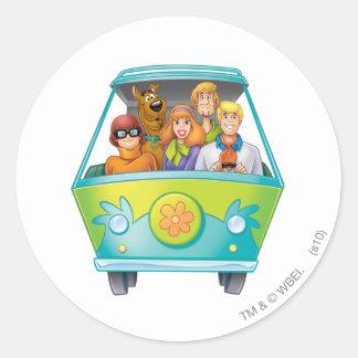 Het Luchtpenseel van Doo van Scooby stelt 25 Ronde Sticker