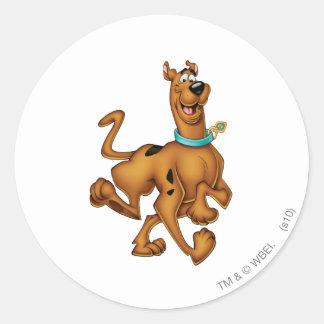 Het Luchtpenseel van Doo van Scooby stelt 3 Ronde Sticker