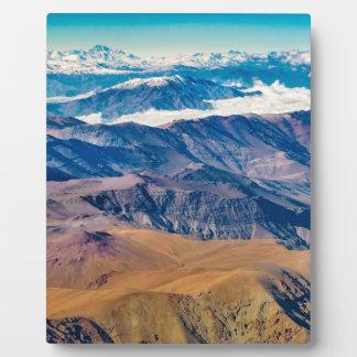 Het LuchtUitzicht van de Bergen van de Andes, Fotoplaat