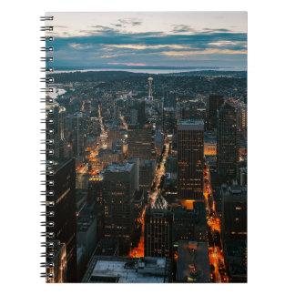 Het LuchtUitzicht van Seattle Washington Ringband Notitieboek