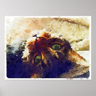Het luie Poster van de Kat van de Dag