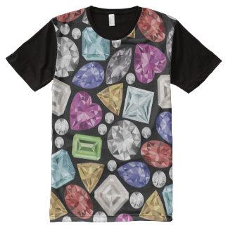 Het luxueuze kleurrijke Patroon van de Diamant All-Over-Print T-shirt