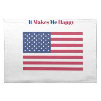 Het maakt me gelukkige Amerikaanse vlag Placemat
