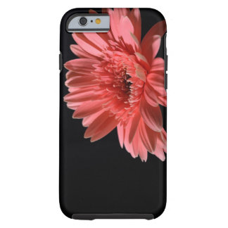 Het madeliefje van Gerbera op zwarte achtergrond 3 Tough iPhone 6 Hoesje