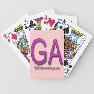 Het magenta van GA Georgië Speelkaart