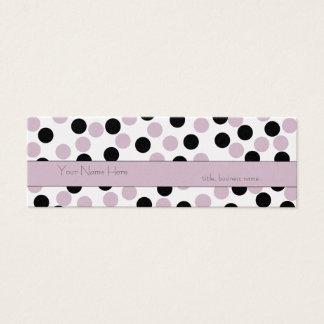 Het magere Roze en Zwarte Visitekaartje van de Mini Visitekaartjes