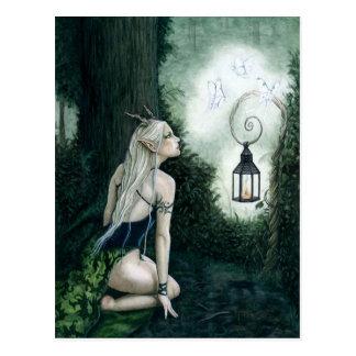 Het magische BosBriefkaart van het Elf Briefkaart