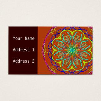 Het magische Visitekaartje van Mandala van de Visitekaartjes