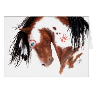 Het majestueuze Geschilderde Paard van het Pony Kaart